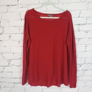 Vince Red Cashmere Longsleeve Sweater